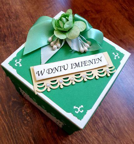 Exploding box z okazji imienin, prezent, rękodzieło