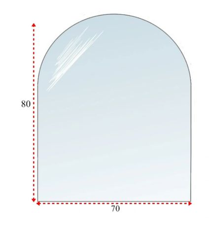 Szyba szkło pod kominek hartowana podstawa 80x70 cm