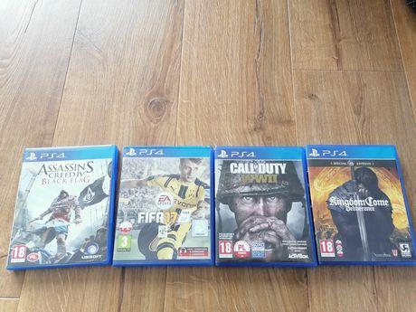 Sony PS4 Call of Duty, Assasin Creed Black Flag, FIFA 17, Kingdom Come