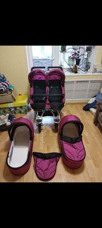 Детская коляска для двойни немецкой фирмы TFK
