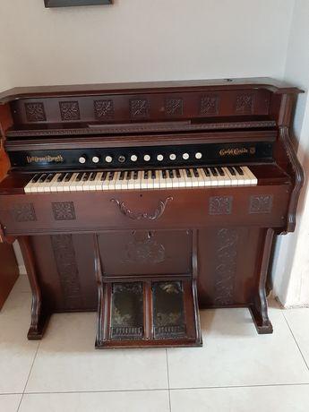 Fisharmonia organy z Anglii 1887 rok antyk