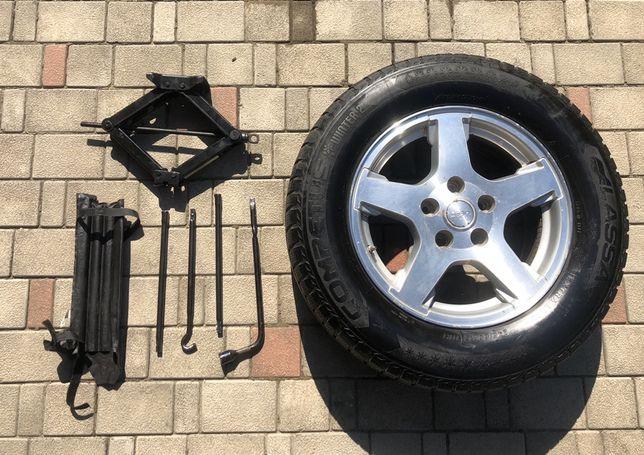Колесо с датчиком давления, домкрат и ключи jeep, chrysler, dodge