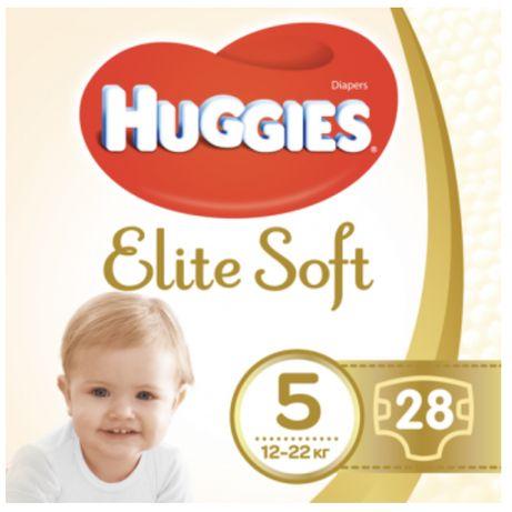Подгузники Huggies Elite Soft 5 (12-22 кг), 28 шт.