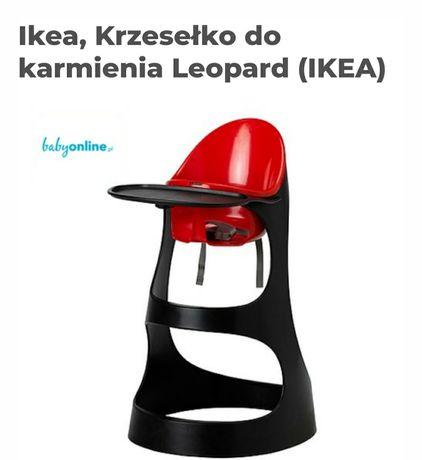 Krzesło do karmienia  czerwono-czarne
