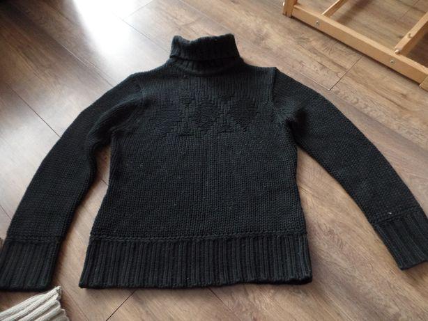 Czarny sweter golf, R. L - 40