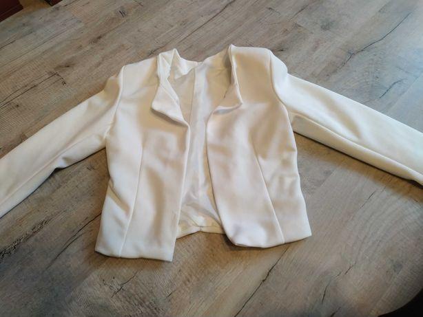 Białe bolerko. Bolerko, narzutka na sukienkę . Jak nowe. M-L. 36-38.