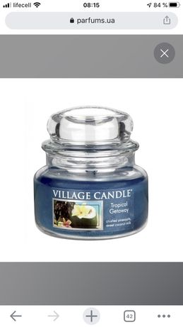 "Ароматическая свеча ""Тропические Гаваи"" Village Candle Premium Tropica"