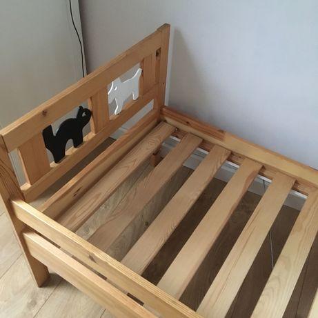 Drewniane łóżko dziecięce Ikea Kritter 160 x 70 cm