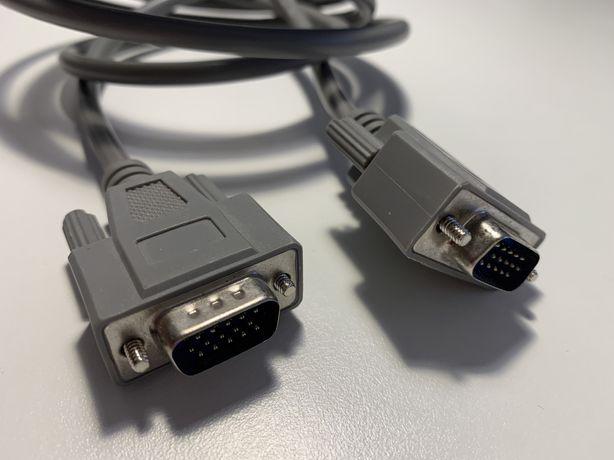 Kabel do monitora SVGA łączący szary 180 cm 1.8m
