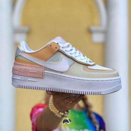 Женские Кроссовки Nike Air Force 1 Shadow White Yellow 36-4