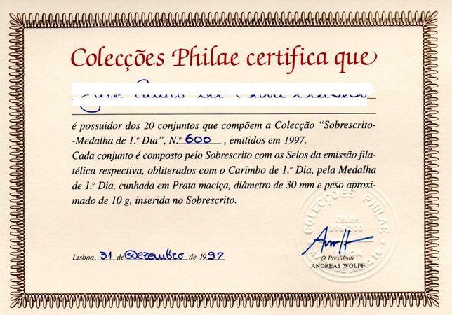 Colecções Philae - Sobrescrito-Medalha de 1º Dia