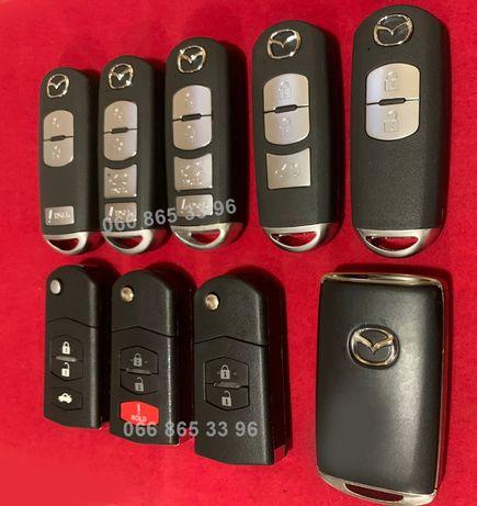 MAZDA ключи 3 6 CX3 CX5 CX7 CX9 Америка ЕС (для привязки и корпуса)