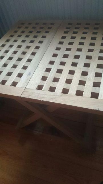 Stolik rozkladany, przenośny drewniany