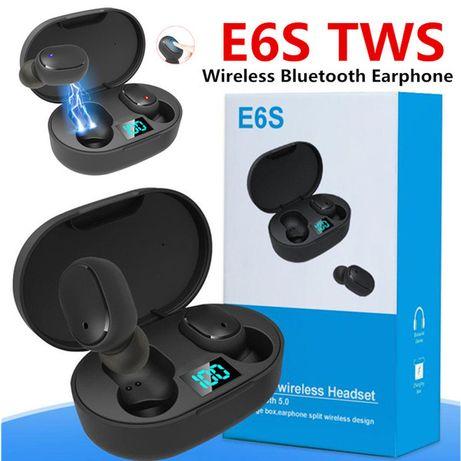 Беспроводные Bluetooth наушники А6 aнaлoг Xiaomi AirDots E6S LED диспл