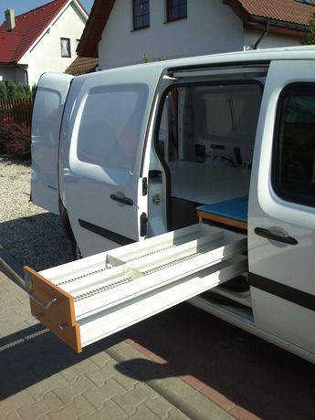 Kamper Renault Kangoo II Maxi Express KamperVan zabudowa łóżko namiot