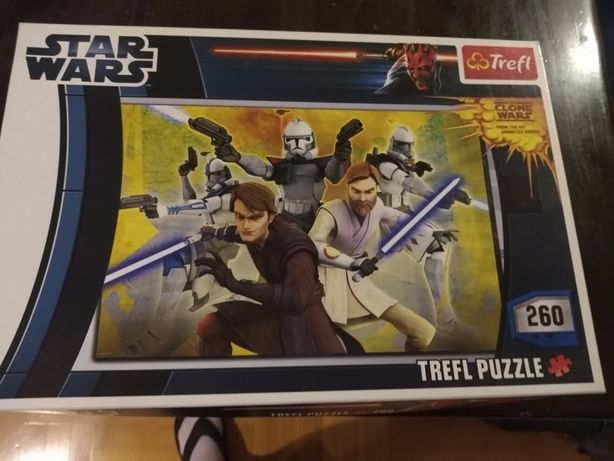 2 x puzzle Star Wars 100 i 260 elementów stan idelany