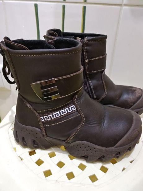 Сапоги,ботинки  зимние из натуральной кожи, р.27