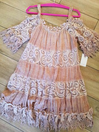 Koronkowa tuniko sukienka uni