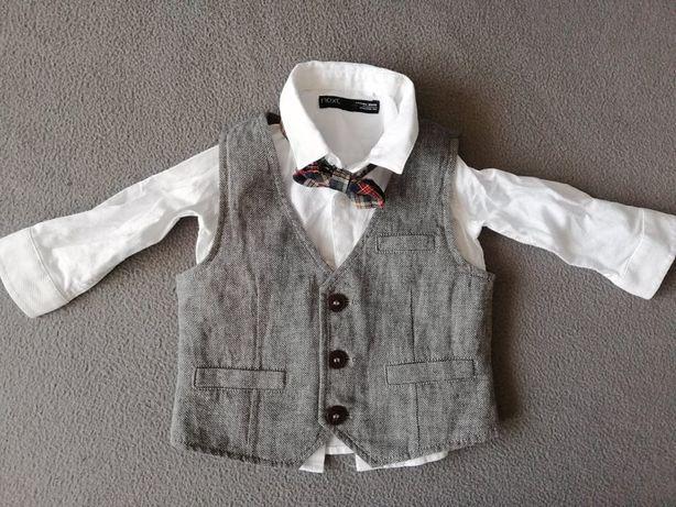 NEXT Koszula z kamizelką 6-9m 74cm NOWA