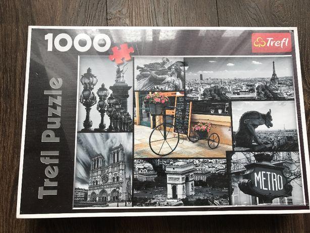 Puzzle 1000 elementów z motywem wieży Eiffla, Eiffel Tower, trefl