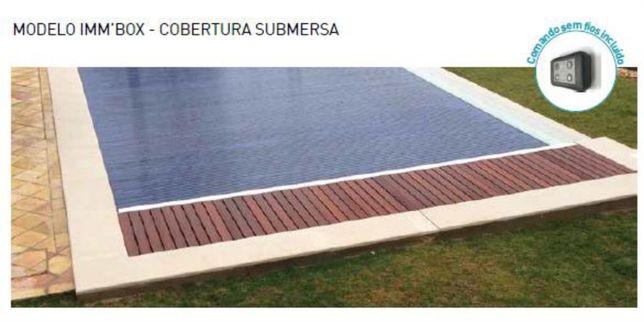 cobertura segurança piscina IMMBOX laminas cinza claro 4x8m