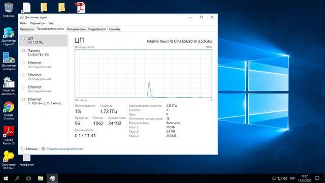 Сервер для 1С HP 380 G7 до 10 пользователей