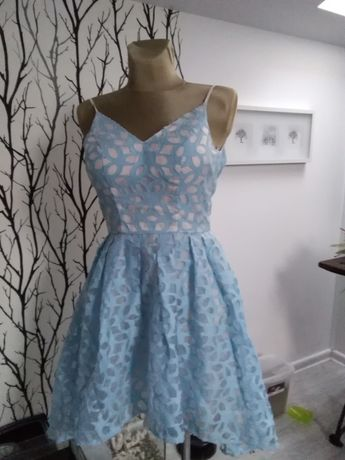Sukienka CHI CHI LONDON błękitna R 8 - wesela, zabawy