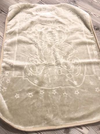Плед - одеяло в коляску осень -зима