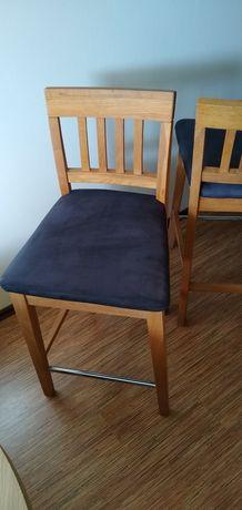 Krzesła dębowe typu hoker 4 szt.