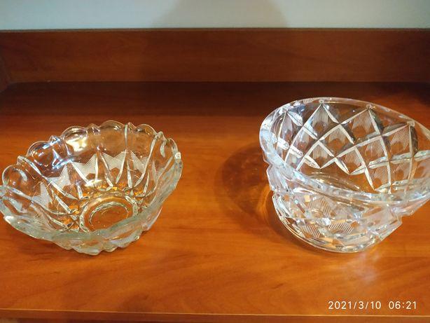 Продам хрустальные вазы для конфет. Производство СССР. Торг уместен.