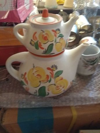 чайник с заварником фарфор посуда ссср