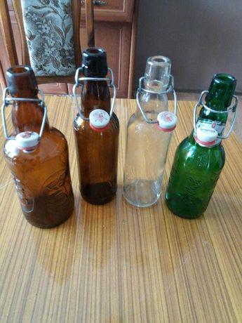 Butelki  na kapsle stare vintage