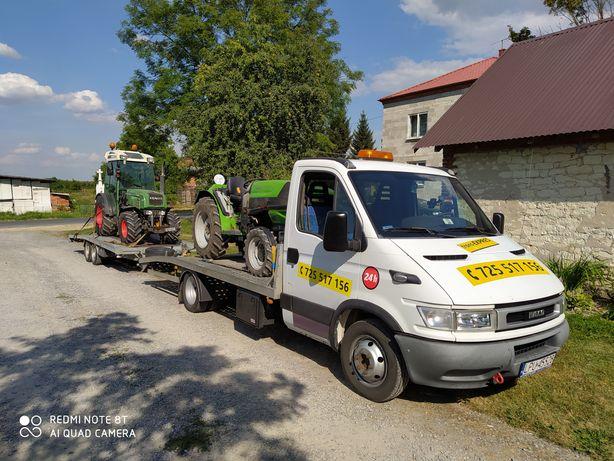 Laweta Transport 24H smochodów osobowych busów sprzentu rolniczego