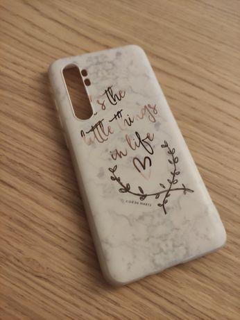 Nowe białe etui napisy Xiaomi Mi Note 10 Lite