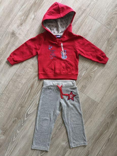 Komplet dres kombinezon 86 92 spodnie bluza polar polarek długi rękaw