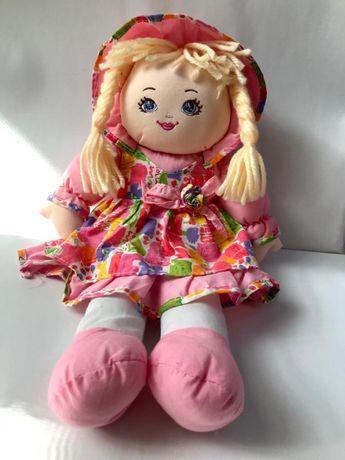 Szmaciana różowa lalka - jak nowa