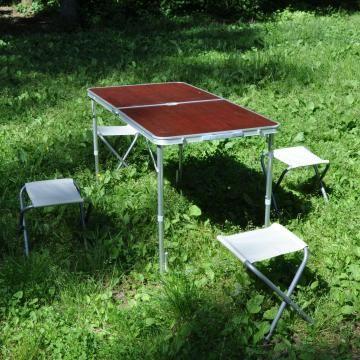 Садовый набор складной мебели: стол 120 х 60 см, 4 стула в комплекте
