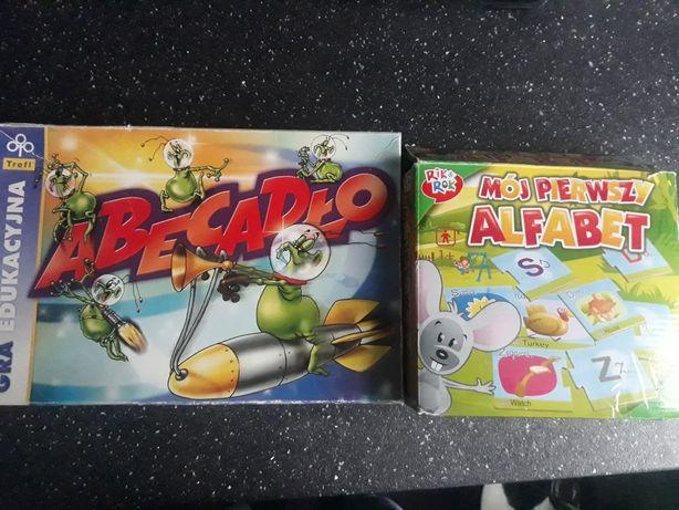 Gra edukacyjna Abecadło+puzzle Mój pierwszy alfabet+gratisy
