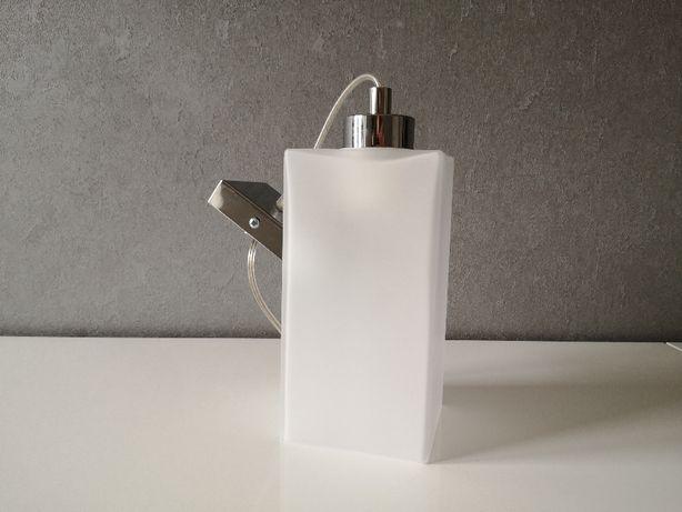 srebrno szklana lampa wisząca w stylu glamour duży gwint, WARTO!