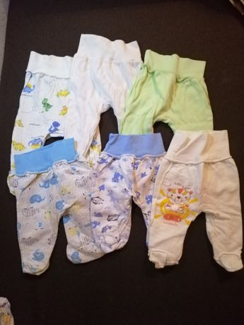 Продам набор ползунков без пятен для новорожденных 0-3мес тёплые