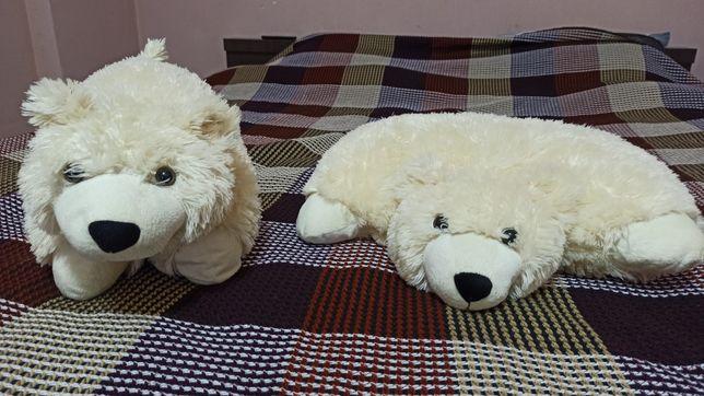 Подушка игрушка белый медведь