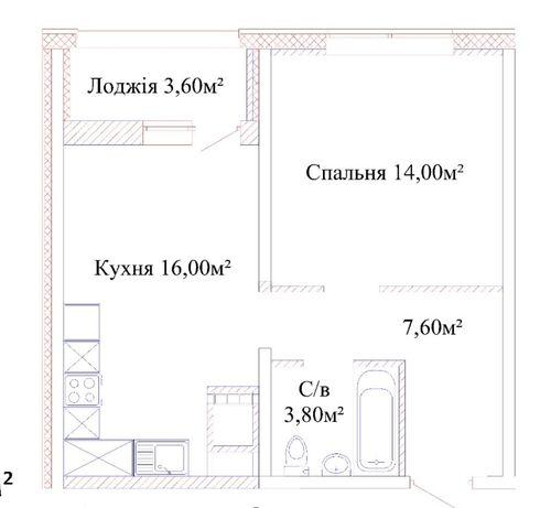 Продам квартиру в рассрочку. Дом сдан. Взнос 11000$
