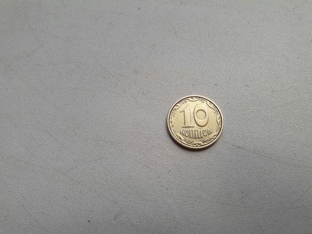 Монета Украина 10 копеек 2003 года нержавеющая сталь не магнитная есть