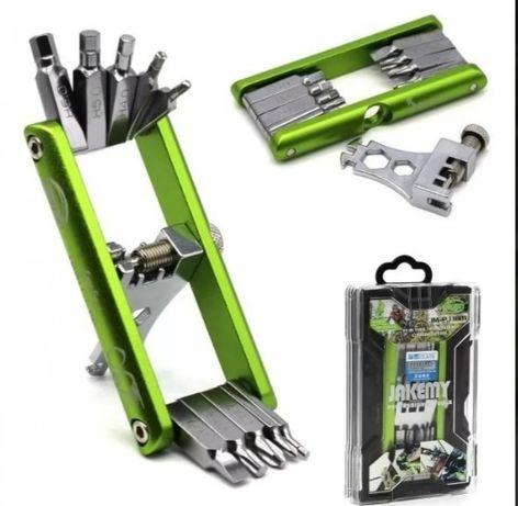 Kit de manutenção e reparação multifuncional para bicicleta