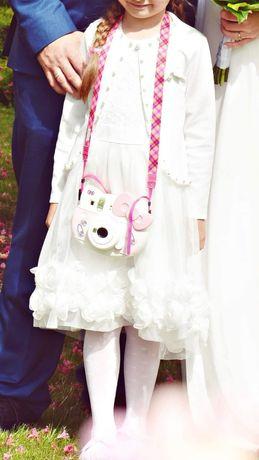 Sukienka biała plus bolerko