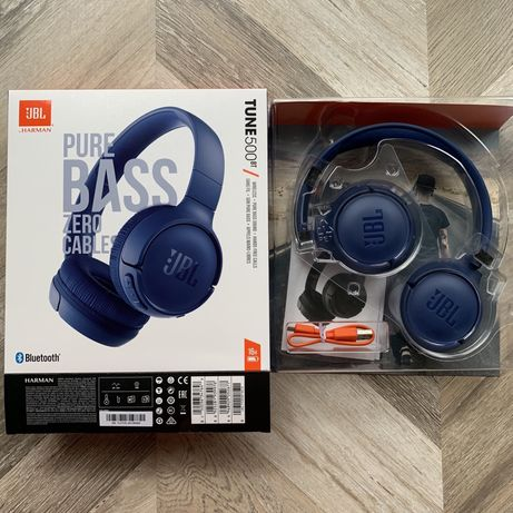 NOWE JBL Tune 500BT słuchawki bezprzewodowe Bluetooth blue niebieskie