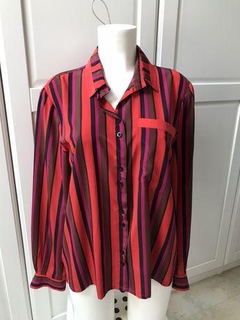 Koszula w paski czerowo różowe rozmiar 38