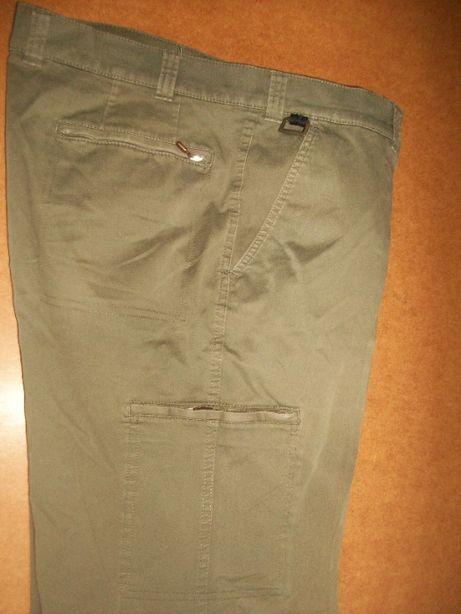 SPODNIE męskie p104 jeans 38/32 KLEPPER khaki
