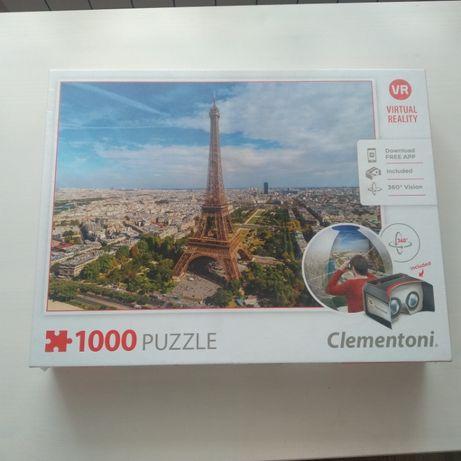 NOWE Puzzle 1000 Paryż wirtualna rzeczywistość, virtual reality