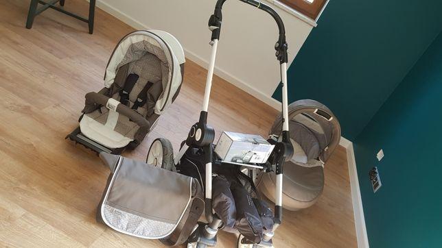 Okazja zestaw Wózek teutonia BeYou! Elite v3 ecoskóra 2w1+adaptery